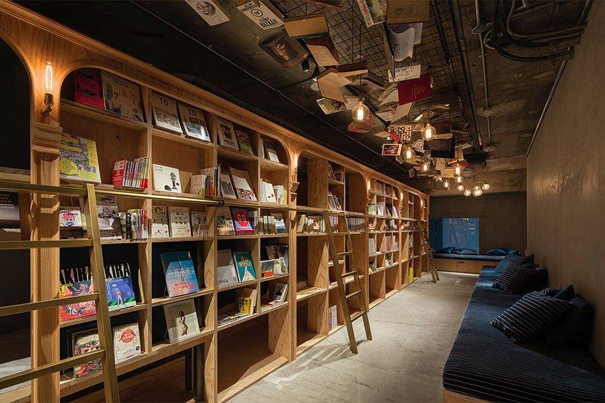Книжный хостел в Токио