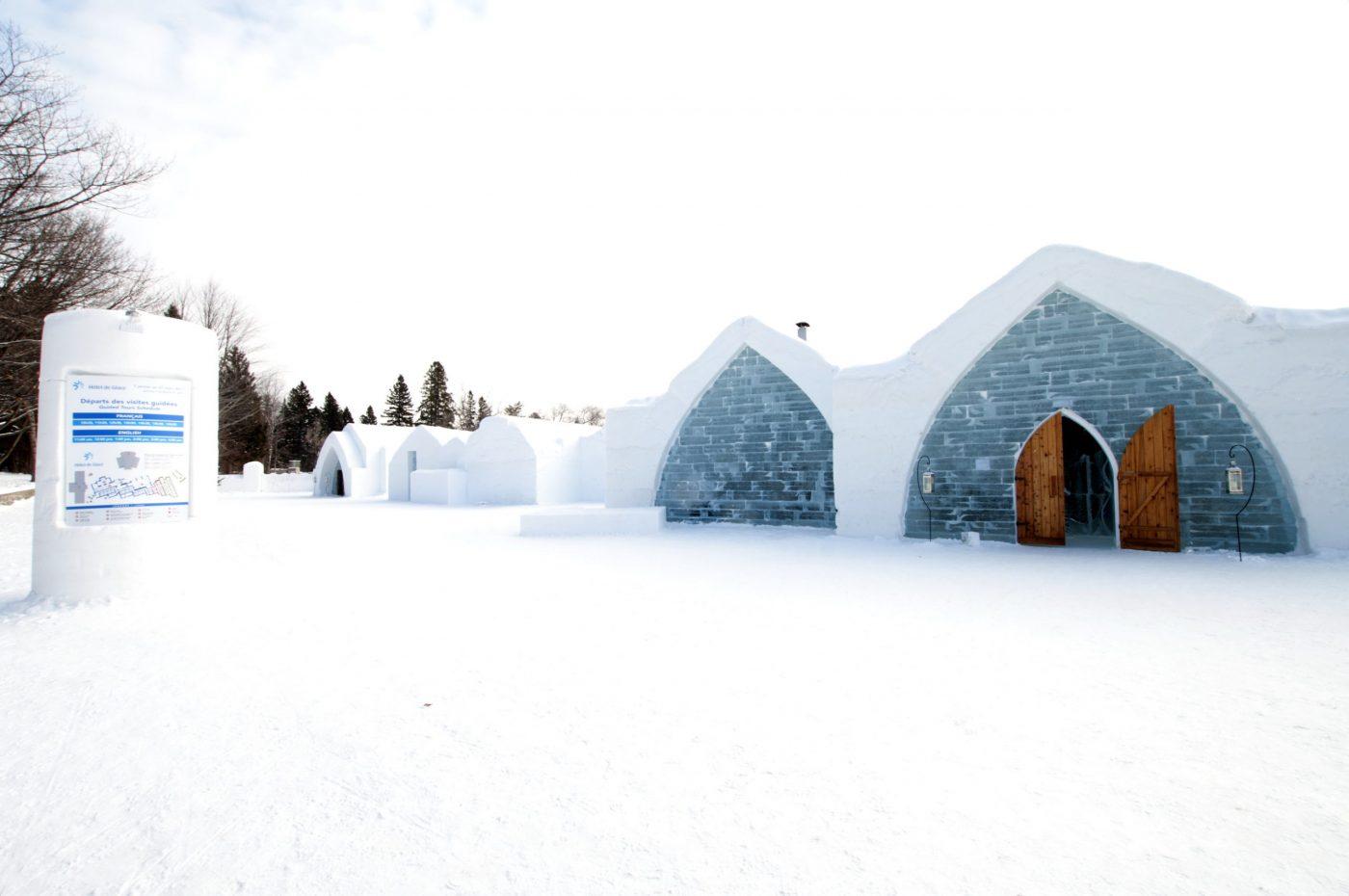 Ледяной отель в Квебеке